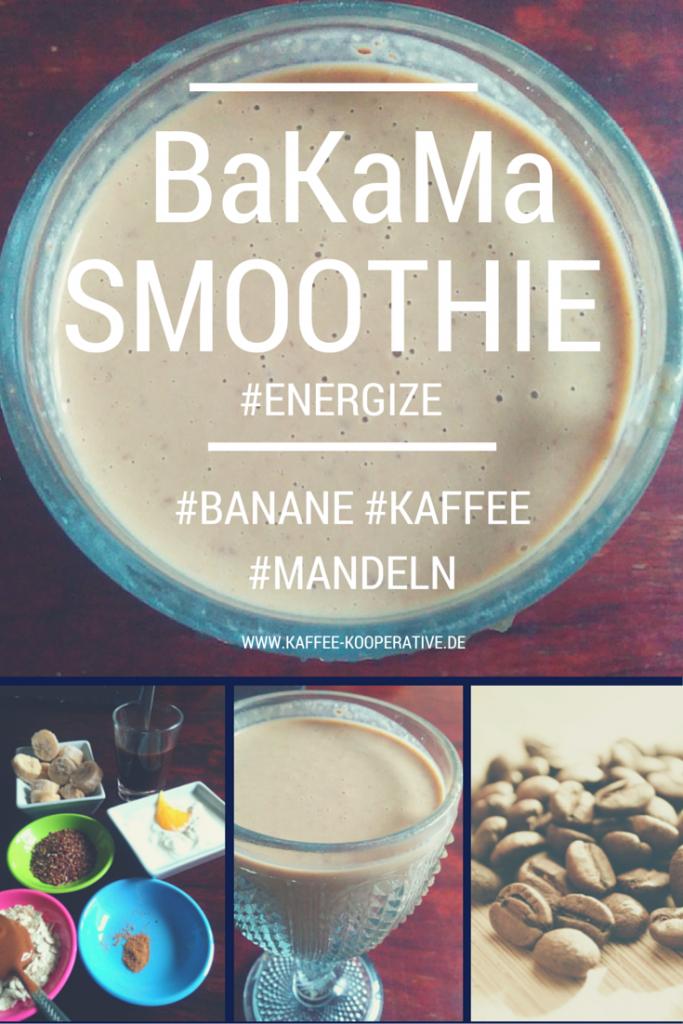Kaffee-Smoothie mit Bananen und Mandeln