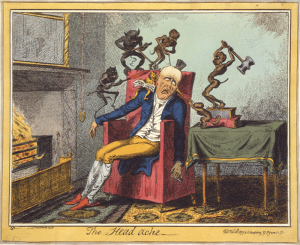 George Cruikshank: The Head Ache, 1819