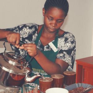 Kaffeeverkostung Musasa-Kooperative