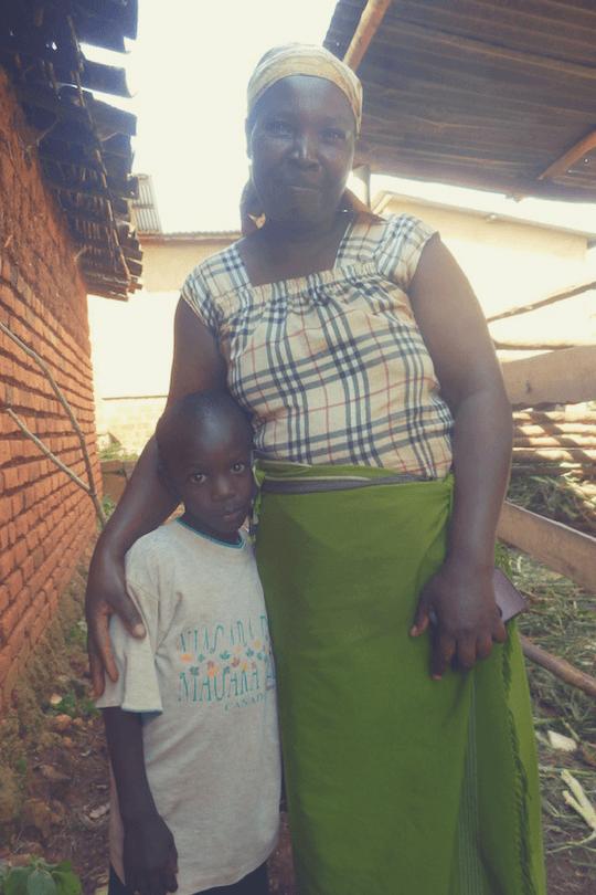 Odette und ihr Adoptivsohn