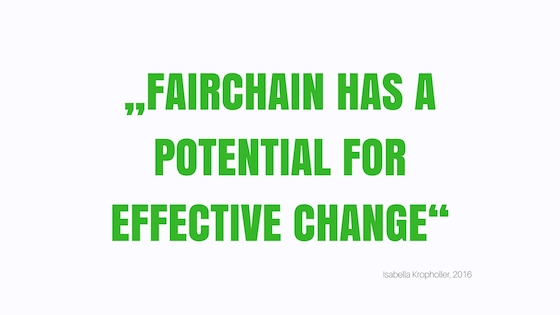Fairchain has a potential for effective change