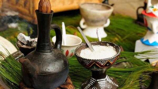 Kaffee zubereiten in Äthiopien, Kaffee-Zeremonie